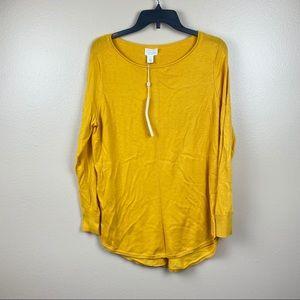 NWT Caslon mustard tunic sweater light weight